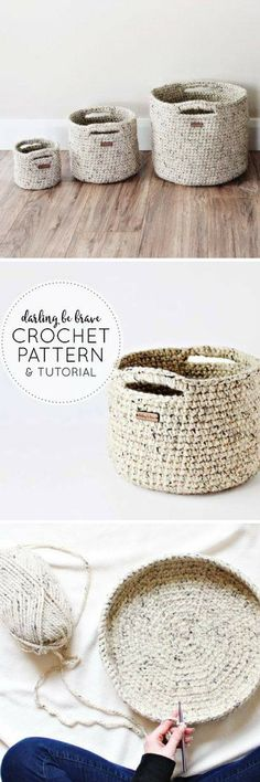 CROCHET PATTERN & TUTORIAL • The Adjustable Basket Pattern • Chunky Texture { Make Almost Any Size Basket } #pattern #ad