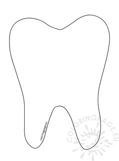 Tooth Coloring Pages Tooth Template - Kroblo Fairy Templates, Templates Printable Free, Printables, Tooth Template, Tooth Outline, Tooth Clipart, Elephant Template, Teeth Pictures, Kids Blouse Designs