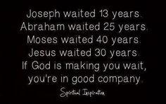 Joseph Waited 13 Years