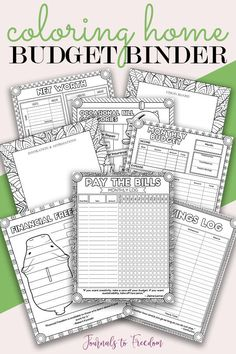 Who says being financially responsible can't be fun? This unique budget planner is also an adult coloring book with hand crafted unique designs! Get excited to budget and get to coloring if those bills stress you out! Home Budget Binder, Home Binder, Budget Planner, Binder Planner, Planner Ideas, Happy Planner, Student Planner Printable, Printable Organization, Bill Calendar
