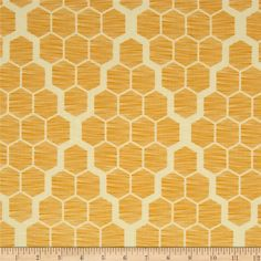 Joel Dewberry Bungalow Hive Maize from @fabricdotcom  Designed by Joel Dewberry for Free Spirit, this cotton print is perfect for quilting, apparel and home decor accents.  Colors include cream and yellow.
