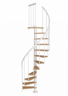 Best Misterstep Gamia Metal Spiral Staircase Kit Silver Grey 640 x 480