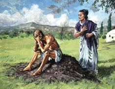 """Job's wife said, """"Do you still hold fast your integrity? Curse God and die!"""" (Job Now, it is sad that Job's wife did not seem to have the same amount of faith that Job did. But I think it is time to reflect on her side of the story. Job Biblia, Melchizedek Priesthood, Book Of Job, Bible Illustrations, Bible Pictures, Always On My Mind, Biblical Art, Old Testament, Bible Stories"""