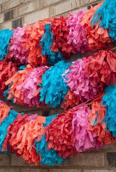 mophead tassel garland