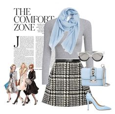 """""""Pattern Series:  Houndstooth"""" by briannaandrews500 ❤ liked on Polyvore featuring Jill Stuart, Nordstrom, Valentino, Semilla, Linda Farrow, women's clothing, women, female, woman and misses"""