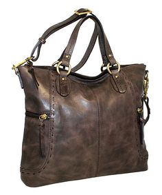 Look at this Chocolate Ole Ole Leather Tote on #zulily today!