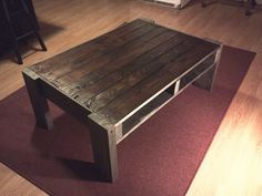 DIY Recycled Pallets Coffee Table Project – Pallets Ideas, Designs, DIY. (shared via SlingPic)