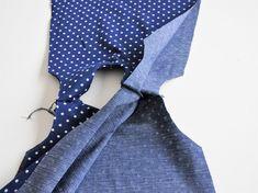 De ideale techniek voor een voering zonder naden! Sewing Basics, Sewing Hacks, Sewing Tutorials, Sewing Projects, Sewing Patterns, Sewing Ideas, Make Your Own Clothes, Sewing Tools, Diy For Girls
