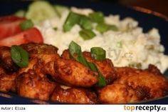 Kuřecí kousky v česnekovém těstíčku podle Čiriny No Salt Recipes, Snack Recipes, Snacks, Czech Recipes, Ethnic Recipes, Tandoori Chicken, Poultry, Food And Drink, Menu