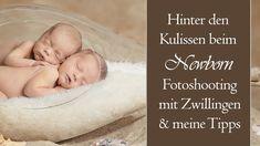 Hinter den Kulissen beim Neugeborenen Fotoshooting mit Zwillingen + Tipps - YouTube Videos, Baby, Youtube, Backdrops, Twins, Photo Shoot, Tips, Baby Humor, Infant