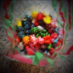 Flavored popcorn.... tastes like Fruity Pebbles!