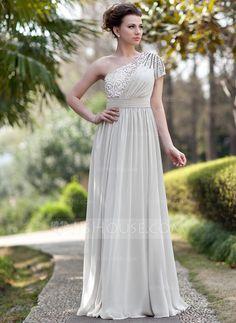 Evening Dresses - $146.99 - A-Line/Princess One-Shoulder Floor-Length Chiffon Sequined Evening Dress With Ruffle Beading (017022933) http://jjshouse.com/A-Line-Princess-One-Shoulder-Floor-Length-Chiffon-Sequined-Evening-Dress-With-Ruffle-Beading-017022933-g22933?pos=your_recent_history_12