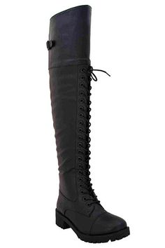 Everyone loves a combat boot! And everyone loves the slightly above the knee look that is so popular right now. So, combine them! These are the most badass combat boots we think you can get. They're f