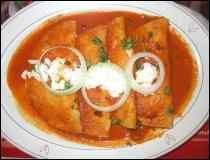 Enjitomatadas con Crema- Platillo Popular Mexicano ..::GuiaDeTacos.COM::..