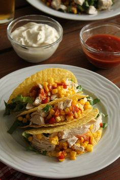 Chicken Tacos, Fish Dishes, Poultry, Sandwiches, Spaghetti, Mexican, Yummy Food, Snacks, Meat