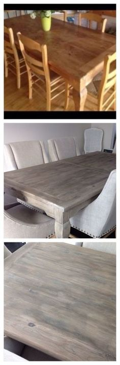 This Restoration Hardware DIY furniture makeover is incredible! Truly makes the table look rustic and styled.