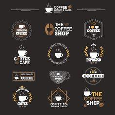 Коллекция кофе этикетки Бесплатные векторы