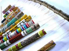summer time bamboo wind chimes #crafts #diy #wind_chimes #bamboo