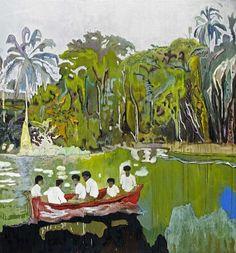 Los pintores vivos más cotizados: Peter Doig » Entre 1996 y 1997 participó en la exposición sobre la NUEVA pintura británica en la década de 1990″, en el Reino Unido. En 2000 se instaló en Trinidad, lo que le dio la OPORTUNIDAD de redescubrir la isla donde había pasado su infancia antes de trasladarse a Quebec con su familia.