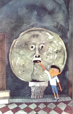 """Extrait du livre pour enfants """"Rome"""" de Miroslav Sasek (1960)."""
