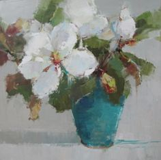 Barbara Flowers, 'Magnolia', Oil on Canvas, 36x36 - Anne Irwin Fine Art