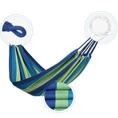 Amazon.com: U-BCOO Portable Hammock Garden Hiking Camping Beach Indoor And Outdoor Parachute Hammock(Color: Multi-Color) (Blue/Colorful): Patio, Lawn & Garden