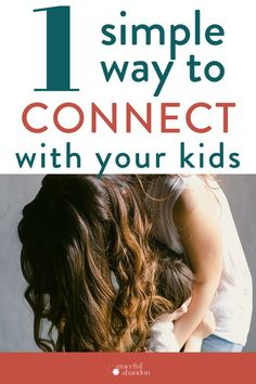 Connected Parenting: 1 Easy Win For Today - Hey mom, ready to connect with your kids…but don't know how? This one simple thing can make a H - Practical Parenting, Parenting Teens, Parenting Advice, Grace Based Parenting, Gentle Parenting, Raising Godly Children, Raising Kids, Happy Mom, Happy Family