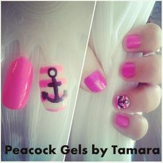 Practice Inspiration Gel and Polish. Anchor For Manicure And Pedicure