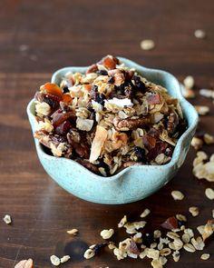 crunchy maple granola: recipe here