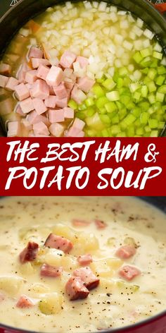 Slow Cooker Recipes, Crockpot Recipes, Cooking Recipes, Ham And Potato Soup, Potatoe Soup Recipe Easy, Bean And Ham Soup, Soup With Ham, White Bean Ham Soup, Crockpot Ham And Potatoes