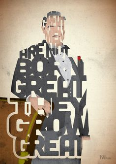 The Godfather: Don Vito Corleone Typography by Pete Ware