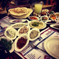 20 salad dinner in Jaffa, Israel Jaffa Israel, Dinner Salads, Ants, Lamb, Steak, Table Settings, Fish, Table Top Decorations, Place Settings