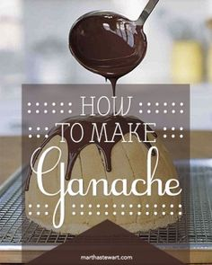 Make ganache in three easy steps. Despite its French name, ganache is nothing elaborate -- chopped chocolate melted in heated heavy cream, with just a bit of salt to bring out the flavor – and it can be used in a multitude of ways.