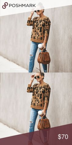 424c9555af CHEETAH PRINT SWEATER Our Cheetah Print Sweater is hot