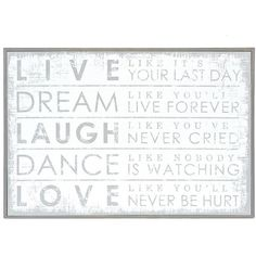 Whitewash Live Laugh Love Wooden Plaque 35 Liked On Polyvore Featuring Home