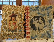 2 Antique Victorian Valentines