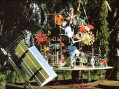 designed in the late fifties for ALCOA, the Eames do-nothing-machine (solar toy) purposely had no function, aside from functioning