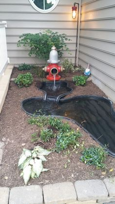 Fire hydrant pond