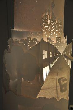 Paper/Light Sculpture  Nicholas Wright