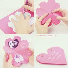Cartão de Corações | Presente Dia dos Namorados...