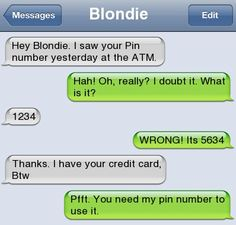 Fail Pin Number - Autocorrect Fails and Funny Text Messages - SmartphOWNED - Funny Troll & Memes 2019 Stupid Texts, Funny Texts Jokes, Text Jokes, Epic Texts, Drunk Texts, Funny Pranks, Funny Text Messages Fails, Text Message Fails, Funny Fails