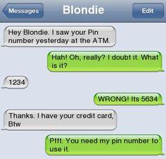 Epic text - Hey blondie  - http://jokideo.com/epic-text-hey-blondie/