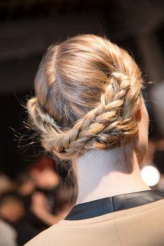 Runway Braids.  NYFW Fall 2013 Hairstyles: Christian Siriano