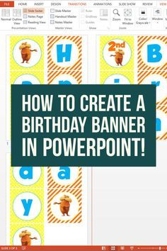 Another time (and money) saving tip when creating and planning a birthday party: create your birthday banner using PowerPoint! We use…