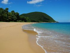 my favorite beach on this planet: Grande Anse de Deshaies en Guadeloupe - French Caribbean. Location Guadeloupe, French West Indies, Caribbean Netherlands, Destinations, Exotic Beaches, Photos Voyages, Island Beach, Oh The Places You'll Go, Viajes