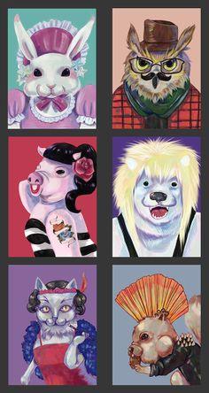 Animals in style. #illustration#