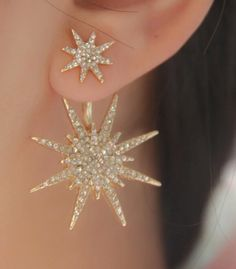 Trendy Star Pentagram Statement Earrings For Women Luxury Bohemian Big Crystal Earings Vintage Turkish Jewelry Free Shipping Catalogues Will Be Sent Upon Request Furniture