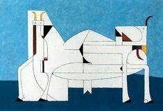Toros, 1950. Cubismo - Óscar Domínguez