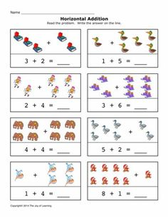 FREE worksheets, create your own worksheets, games. 1st Grade Math Worksheets, Addition Worksheets, Subtraction Worksheets, Math Addition, Free Worksheets, Addition Activities, Kids Education, Special Education, Act Math