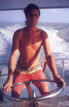 Simon on yacht John Taylor, Roger Taylor, Nick Rhodes, Simon Le Bon, Birmingham, Lead Men, Fab Five, New Wave, Amazing Songs